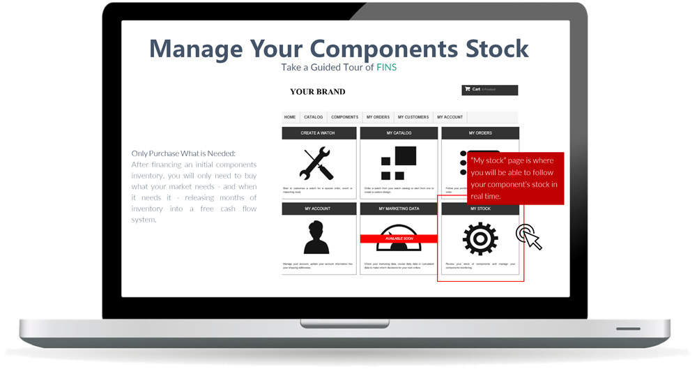 Manage your components stock